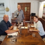 Private  high  end tasting with Cameron Elderton serving VIP clients from Cherry Hll wines NSW  BV